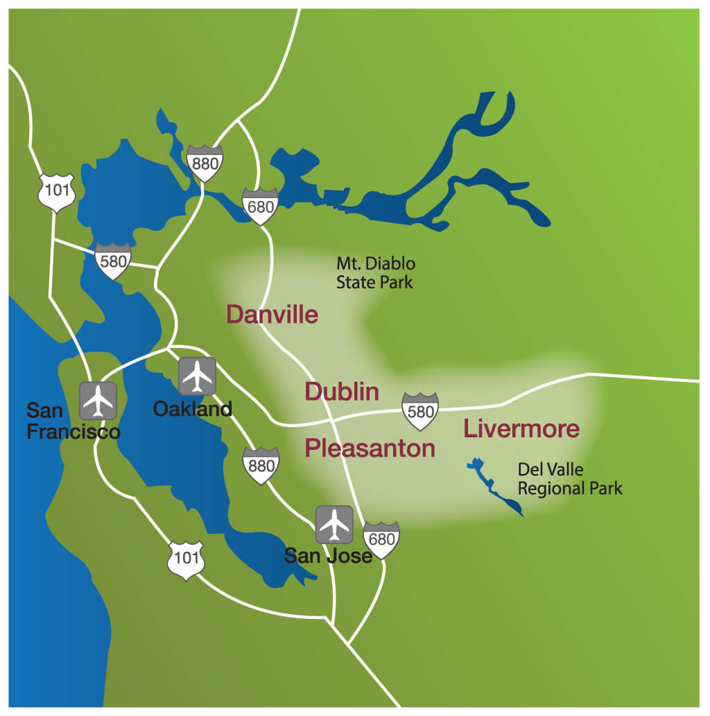 map of pleasanton california with Visittrivalley on Livermore further Mission San Jose furthermore Danville Ca additionally Hayward fault likewise Brownwood.