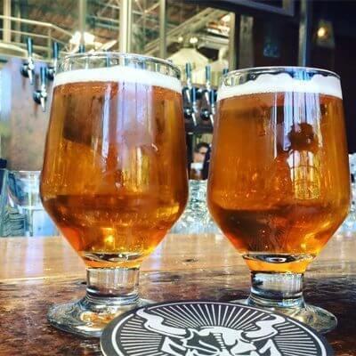 beer glasses at Three Sheets