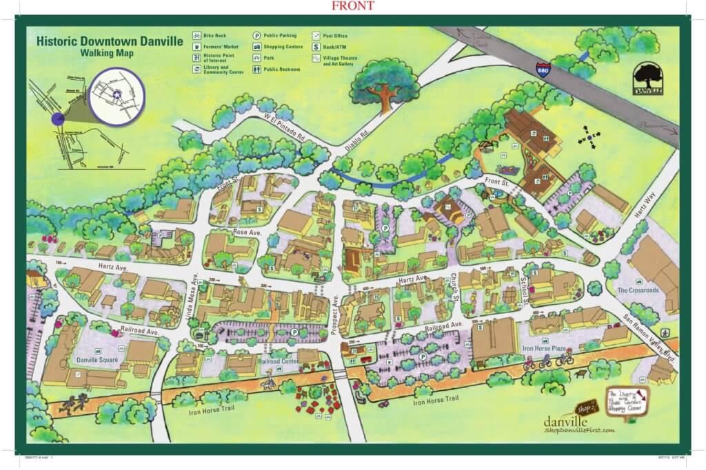 Downtown Danville Walking Map-1