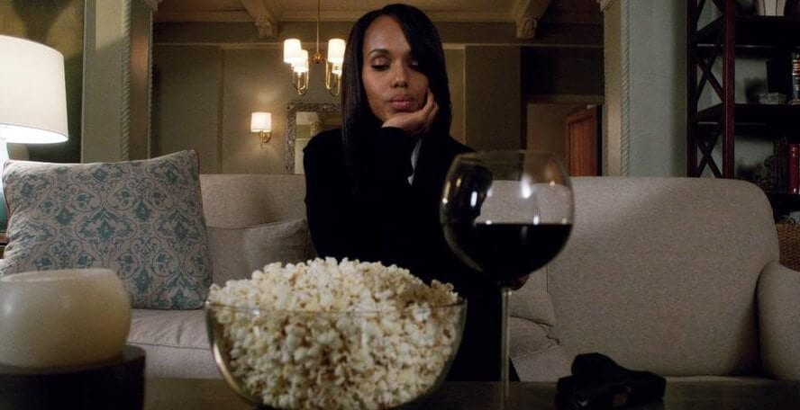 Olivia Pope & Red Wine