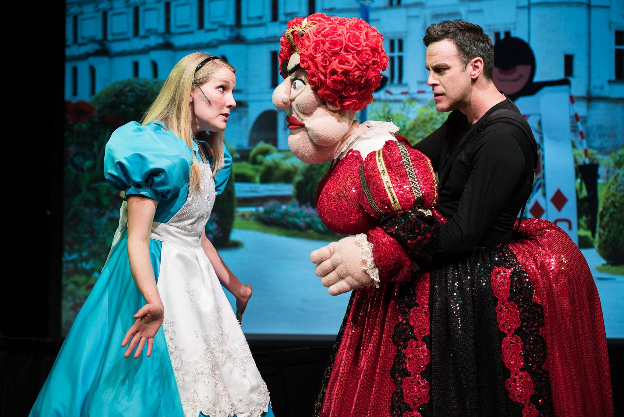 dlux puppets present alice in wonderland at the bankhead theater