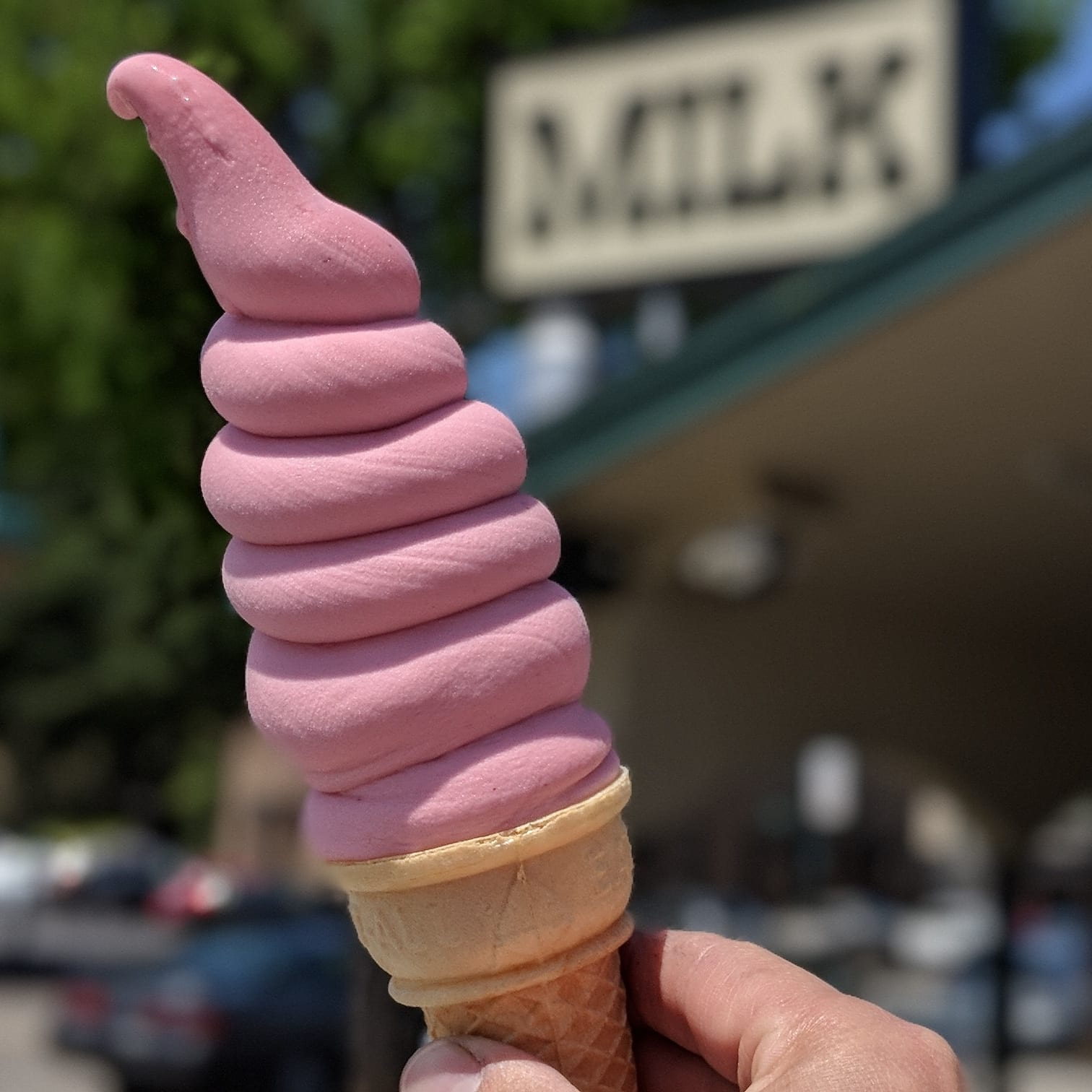 Strawberry Soft Serve Ice Cream from Meadowlark Dairy