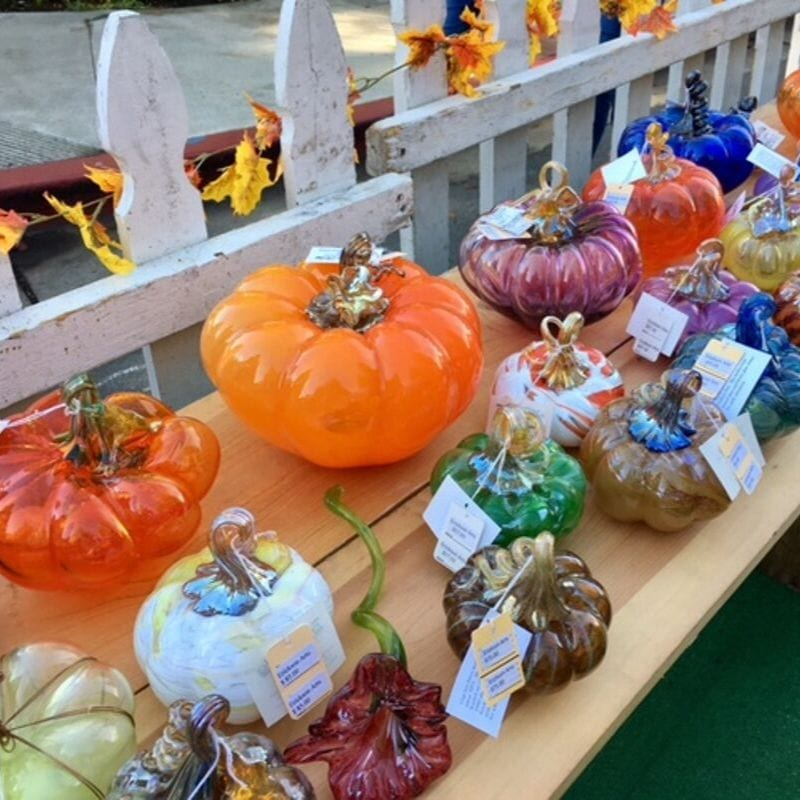 glass pumpkins at Danville's Fall Fest
