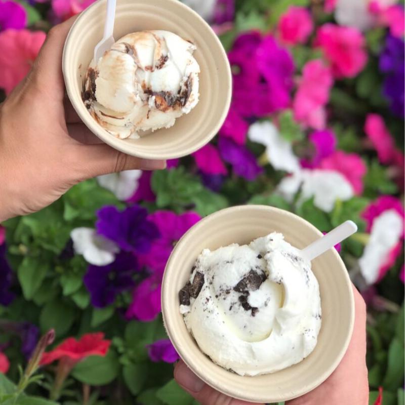 gelato in bowls