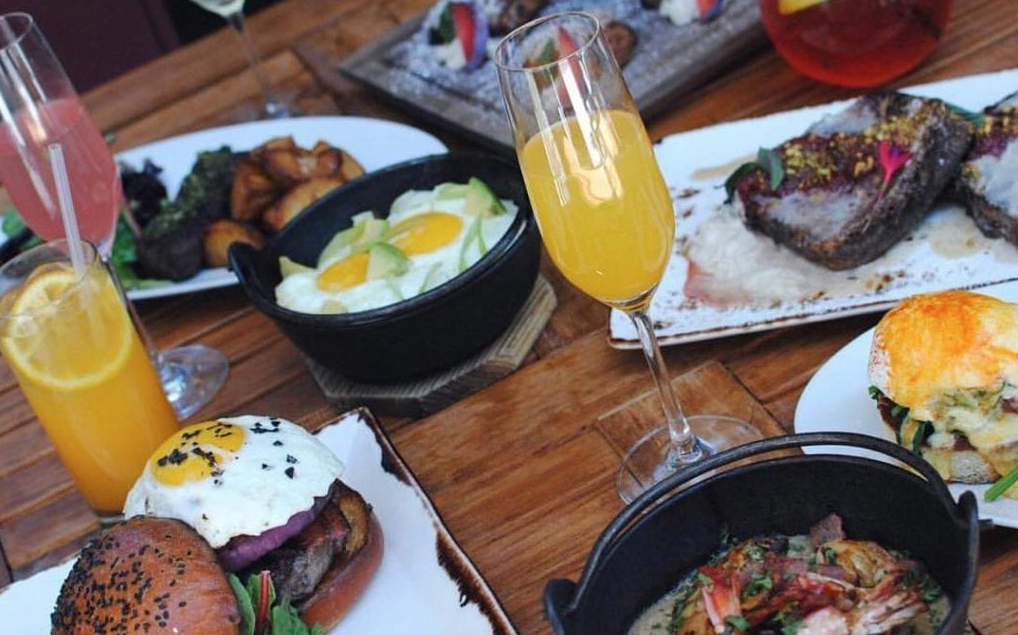 brunch spread at sabio on main