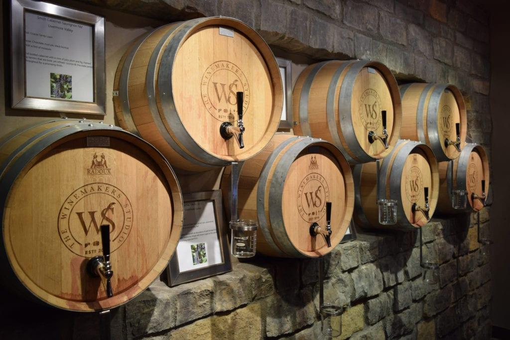 wente wine barrels