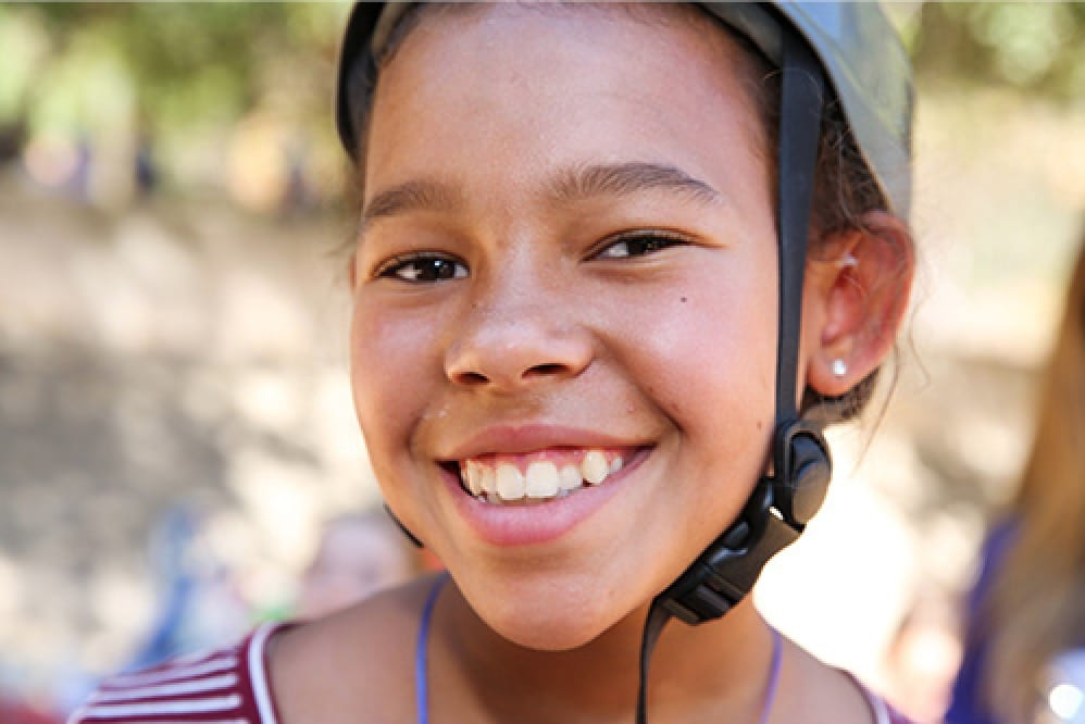 young girl smiling camp arroyo