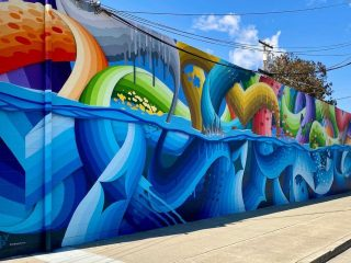 waves of color mural